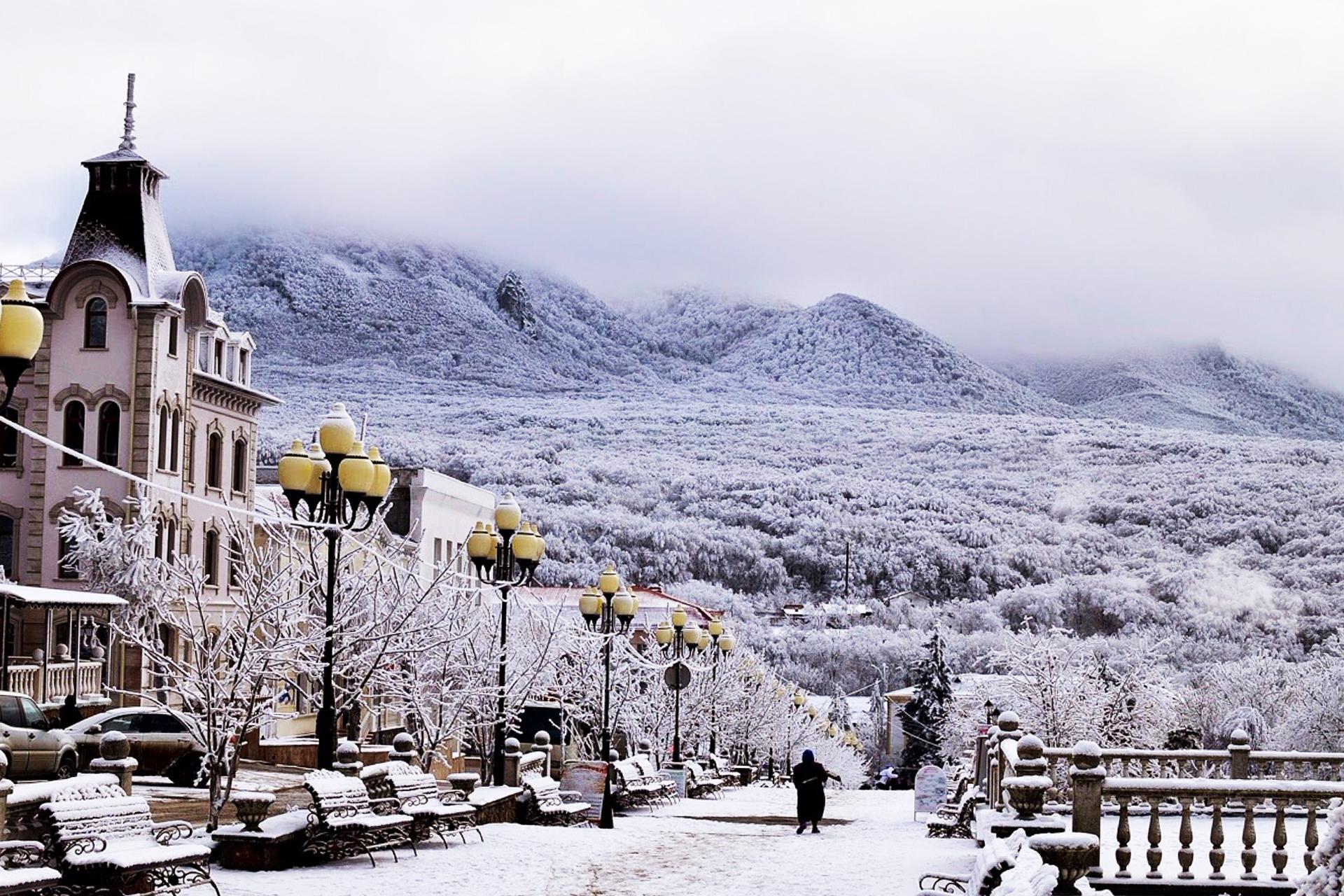 Город Железноводск город зимой