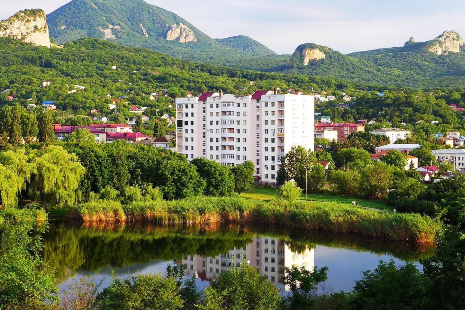 Город Железноводск озеро